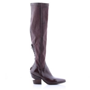 EGGPLANT POINTED TOE KNEE HIGH BOOT - SAMPLE SALE SIZE 37 - FINAL SALE
