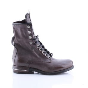 SMOKE LACE UP BOOT WITH STUD DETAIL - SAMPLE SALE SIZE 37 - FINAL SALE