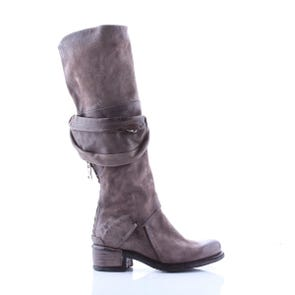 SMOKE TALL BOOT WITH ZIPPER POCKET - SAMPLE SALE SIZE 37 - FINAL SALE