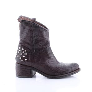 BROWN TEXTURED BOOT WITH STUDS - SAMPLE SALE SIZE 37 - FINAL SALE