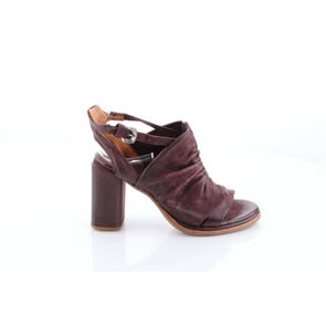 EGGPLANT ROUCHED BODY HIGH HEEL- SAMPLE SALE SIZE 37 - FINAL SALE