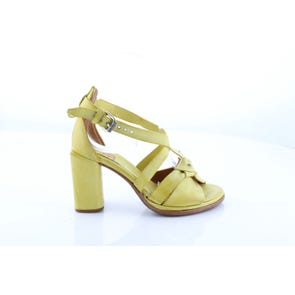 YELLOW STRAPPY HIGH HEEL- SAMPLE SALE SIZE 37 - FINAL SALE