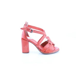 ORANGE STRAPPY HIGH HEEL- SAMPLE SALE SIZE 37 - FINAL SALE