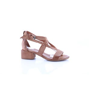 CAMEL STRAPY LOW HEEL- SAMPLE SALE SIZE 37 - FINAL SALE