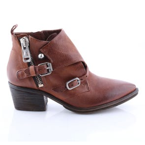 WHISKEY POINTED TOE HARDWARE BOOTIE - SAMPLE SALE SIZE 37 - FINAL SALE