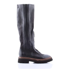 BLACK CHUNKY ZIP UP BOOT - SAMPLE SALE SIZE 37 - FINAL SALE