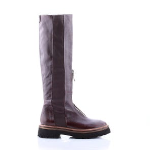 EGGPLANT CHUNKY ZIP UP BOOT - SAMPLE SALE SIZE 37 - FINAL SALE