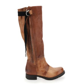 WHISKEY TEXTURED KNEE HIGH BOOT - SAMPLE SALE SIZE 37 - FINAL SALE