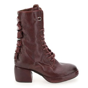 WINE LEATHER STRAPS BACK BOOT - SAMPLE SALE SIZE 37 - FINAL SALE
